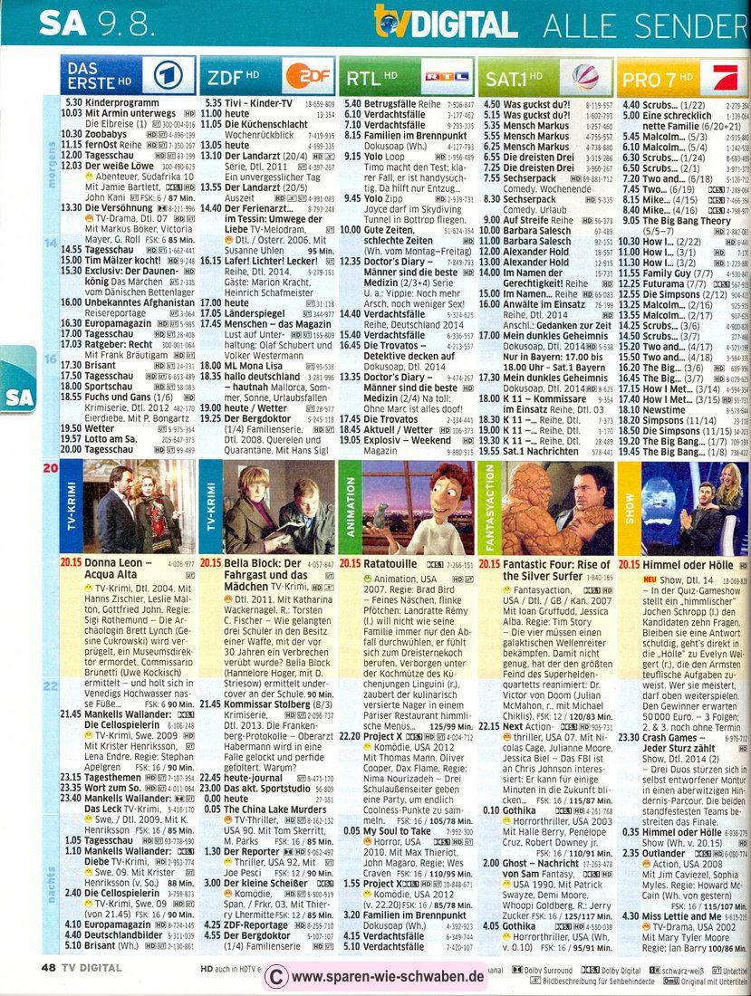 Kabel 1 Fernsehprogramm
