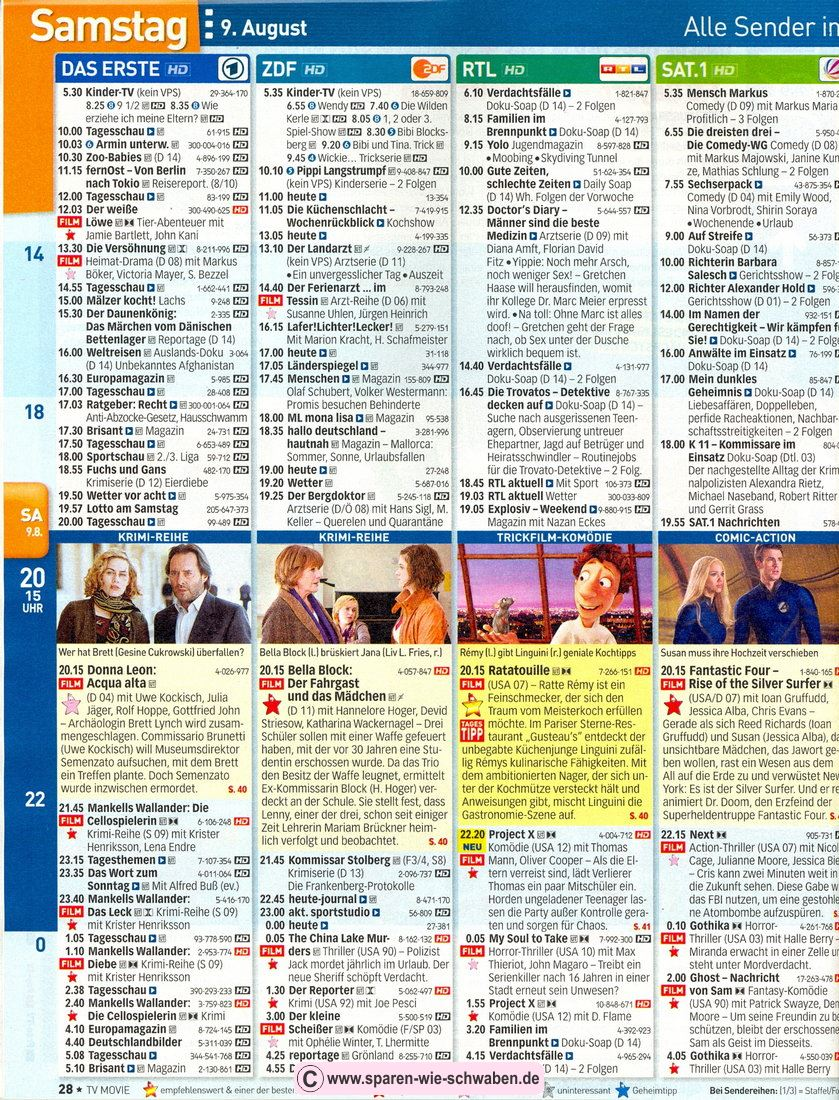 Tv Fernsehzeitung